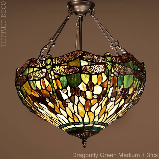 lampe suspendue dragonfly green small les plus belles lampes tiffany. Black Bedroom Furniture Sets. Home Design Ideas