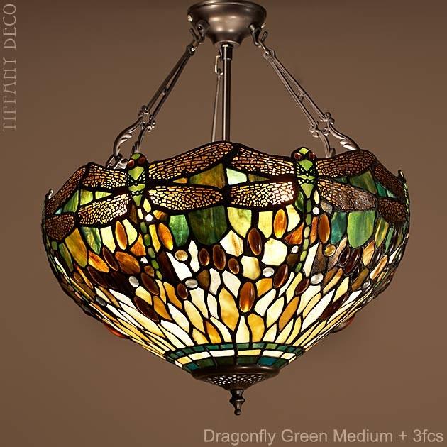 lampe suspendue dragonfly green small les plus belles lampes tiffany. Black Bedroom Furniture Sets. Home Design Ideas