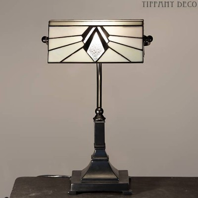 Tiffany Bureaulamp Fargo B&W