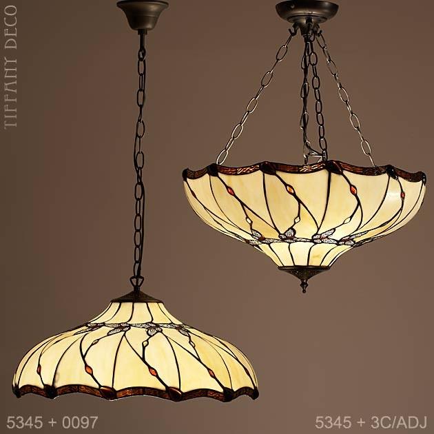 Tiffany hanglamp Vlinders Large - Uw tiffany lampen specialist