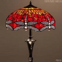 Tiffany Vloerlamp Dragonfly Orange Medium