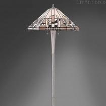 Tiffany Vloerlamp Metropolitan-nickel
