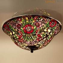 Tiffany Plafondlamp Country Border Large
