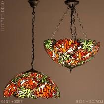 Tiffany hanglamp kleurenpracht Large