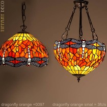 Tiffany hanglamp Dragonfly Orange Small