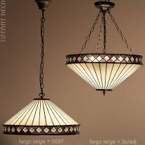 Tiffany hanglamp Fargo Large
