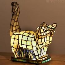 Tiffany lampje 2 Katten
