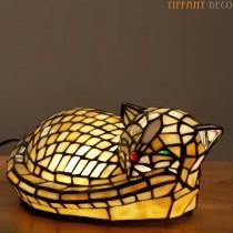 Tiffany lampje Slapende Kat