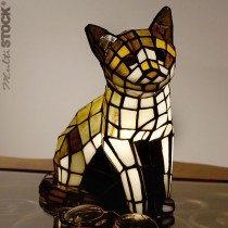 Tiffany lampje Kat