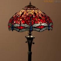 Tiffany Vloerlamp Dragonfly Red Medium