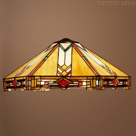 Tiffany kap Art Deco Large