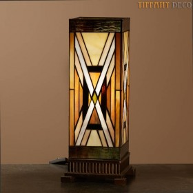 Vierkante Tiffany Lamp Art Déco Medium