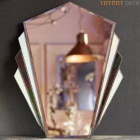 Spiegel in Tiffany glas Art-Déco B&W