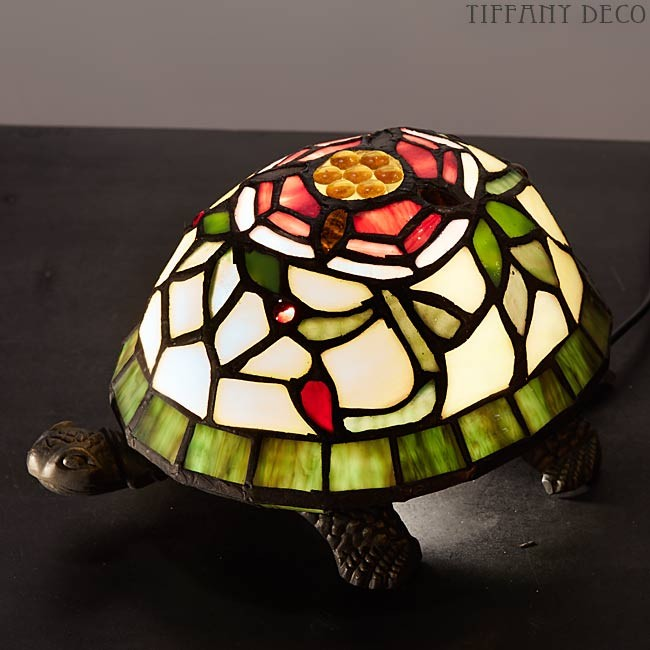 Tiffany Lamp Turtle flowers - the most beautiful Tiffany Lamps