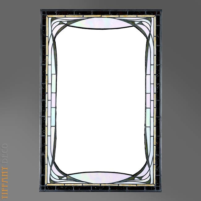 mirror in tiffany glass art d co b w the most beautiful. Black Bedroom Furniture Sets. Home Design Ideas