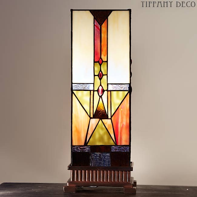 Square Tiffany Lamp Carre Art Deco Medium The Most Beautiful
