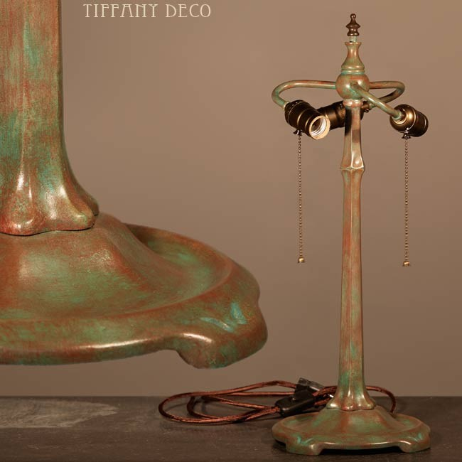 Odyssey lamp base in bronze - the most beautiful Tiffany Lamps