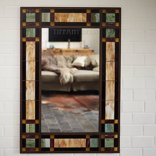 mirror in tiffany glass art d co the most beautiful. Black Bedroom Furniture Sets. Home Design Ideas