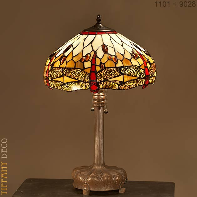 Tiffany Lamp Dragonfly Gold Medium - the most beautiful Tiffany Lamps c1d7a2d0f657