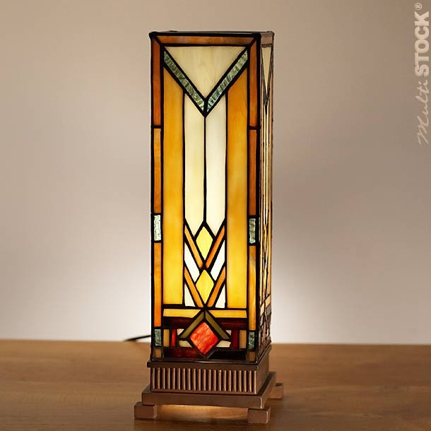 Square tiffany lamp art d co small the most beautiful for Miroir vitrail modeles