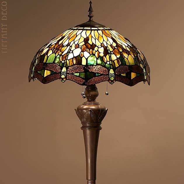 Tiffany floor lamp dragonfly green the most beautiful for Replica leuchten