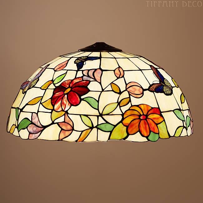 Suspension Tiffany suspended lamp butterfly large - the most beautiful tiffany lamps