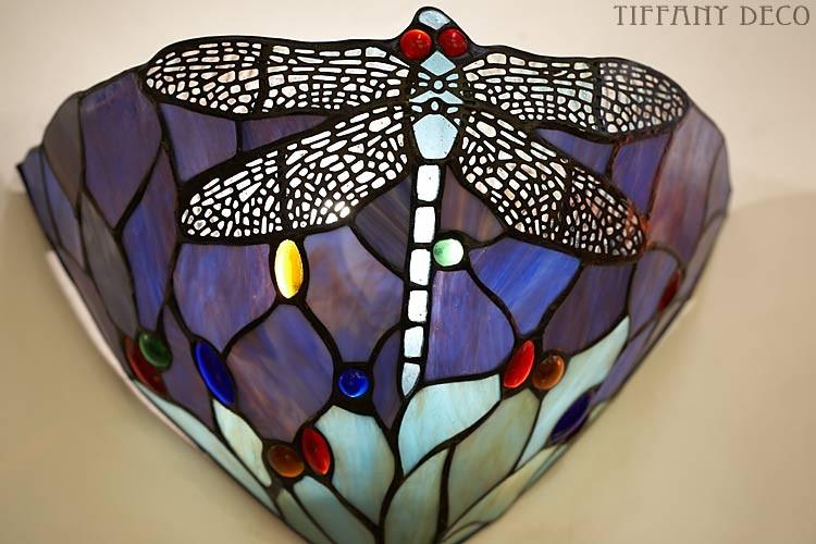 Applique tiffany dragonfly bleu les plus belles lampes tiffany