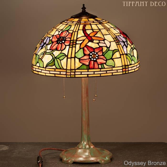 lampe tiffany odyssey medium les plus belles lampes tiffany. Black Bedroom Furniture Sets. Home Design Ideas