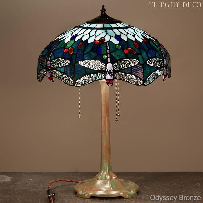 lampe tiffany dragonfly blue medium les plus belles lampes tiffany. Black Bedroom Furniture Sets. Home Design Ideas