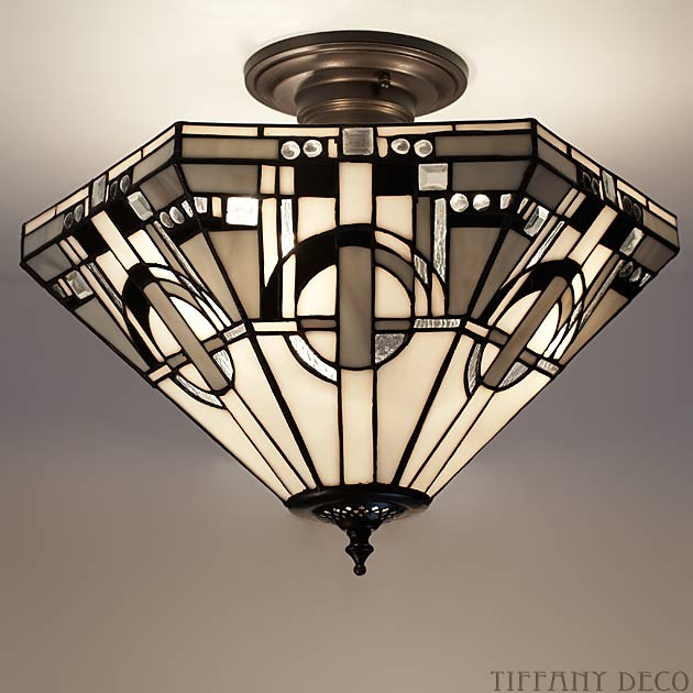 plafonnier tiffany metropolitan les plus belles lampes. Black Bedroom Furniture Sets. Home Design Ideas