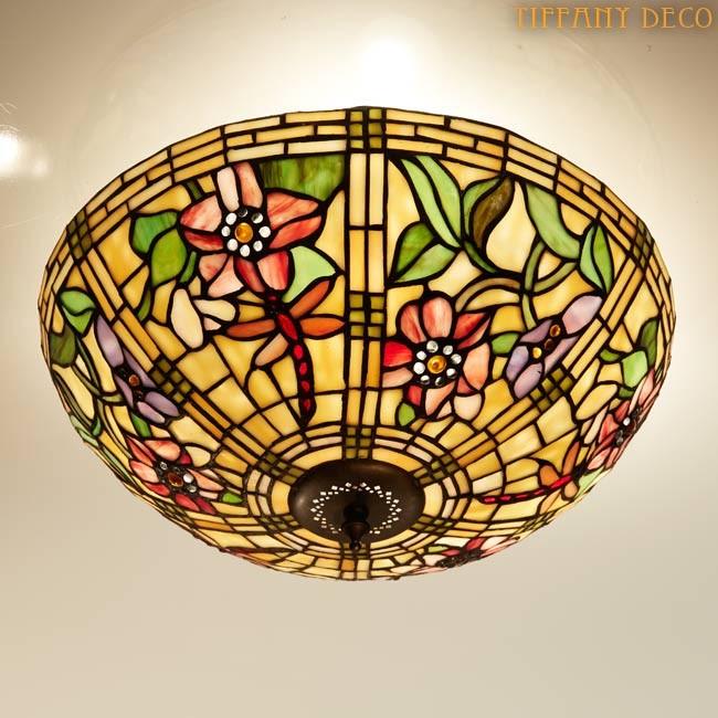 plafonnier tiffany libelulles les plus belles lampes tiffany. Black Bedroom Furniture Sets. Home Design Ideas