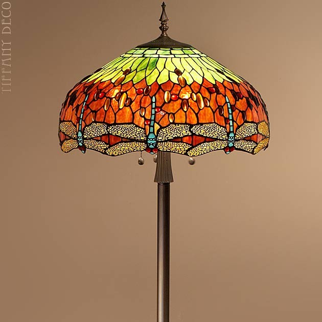 lampadaire dragonfly les plus belles lampes tiffany. Black Bedroom Furniture Sets. Home Design Ideas