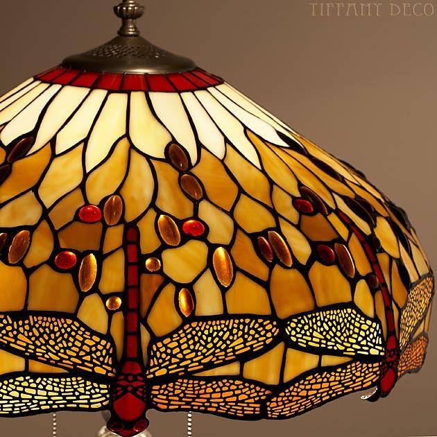 lampadaire dragonfly gold les plus belles lampes tiffany. Black Bedroom Furniture Sets. Home Design Ideas