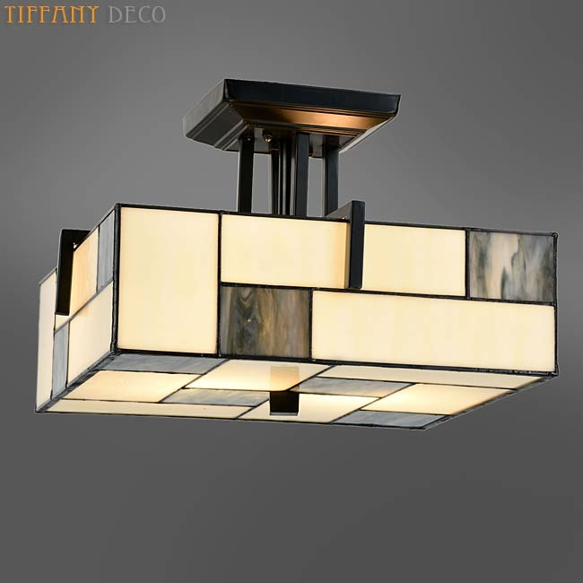 plafonnier tiffany mondriaan les plus belles lampes tiffany. Black Bedroom Furniture Sets. Home Design Ideas