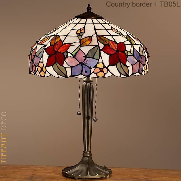 lampe tiffany country border medium les plus belles lampes tiffany. Black Bedroom Furniture Sets. Home Design Ideas
