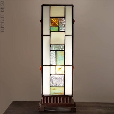 Vierkante Tiffany Lamp Art Déco Small