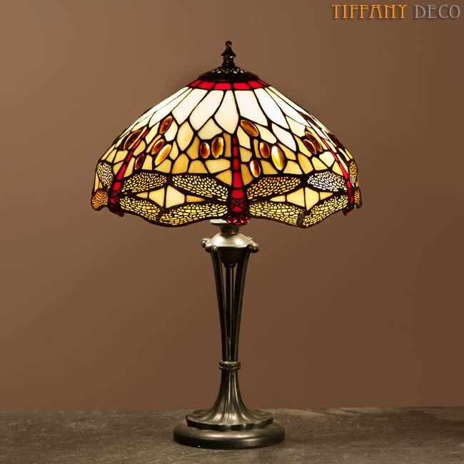 tiffany lamp dragonfly gold small tafellampen tiffany lampen uw tiffany lampen specialist. Black Bedroom Furniture Sets. Home Design Ideas