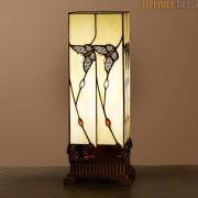 Vierkante Tiffany Lamp Vlinders Medium