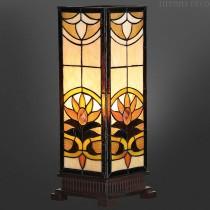 Vierkante Tiffany Lamp Zonsondergang Medium