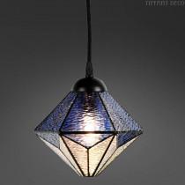 Tiffany hanglamp Mini Akira Bleu