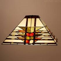 Vierkante Tiffany kap Art Déco