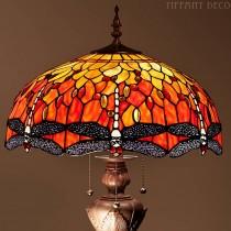 Tiffany Vloerlamp Dragonfly Orange