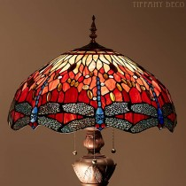 Tiffany Vloerlamp Dragonfly Red