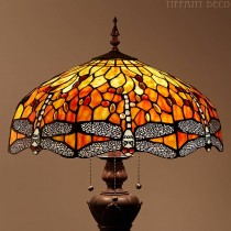 Tiffany Vloerlamp Dragonfly Flame