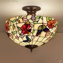 Tiffany Plafondlamp Vlinders Medium