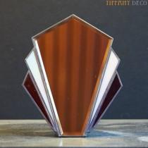 Spiegel in Tiffany glas Art-Déco B&W Small