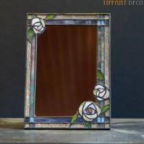 Spiegel in Tiffany glas Rozen Small