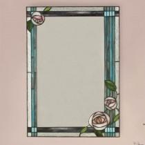 Spiegel in Tiffany glas Rozen Large