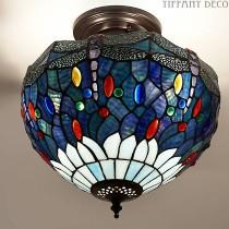 Tiffany Plafondlamp Dragonfly Blue Small