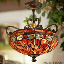 Tiffany hanglamp Libelletjes